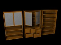 set shelves 3d model