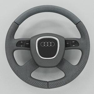 3ds max audi steering wheel