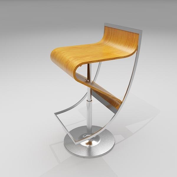 106 series bar stool 3d model