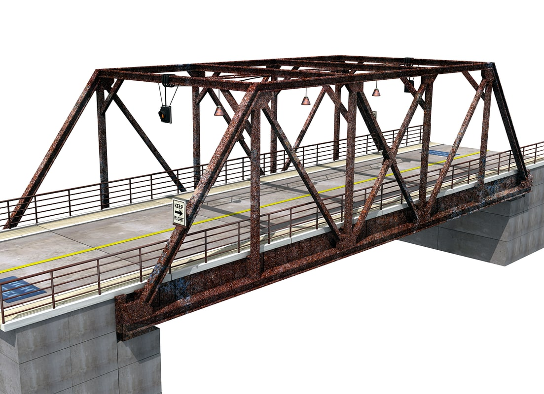 3d old steel bridge