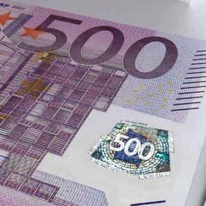500 euros - europe 3d model