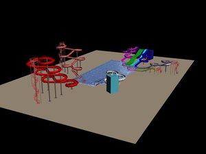 aquapark 3d model