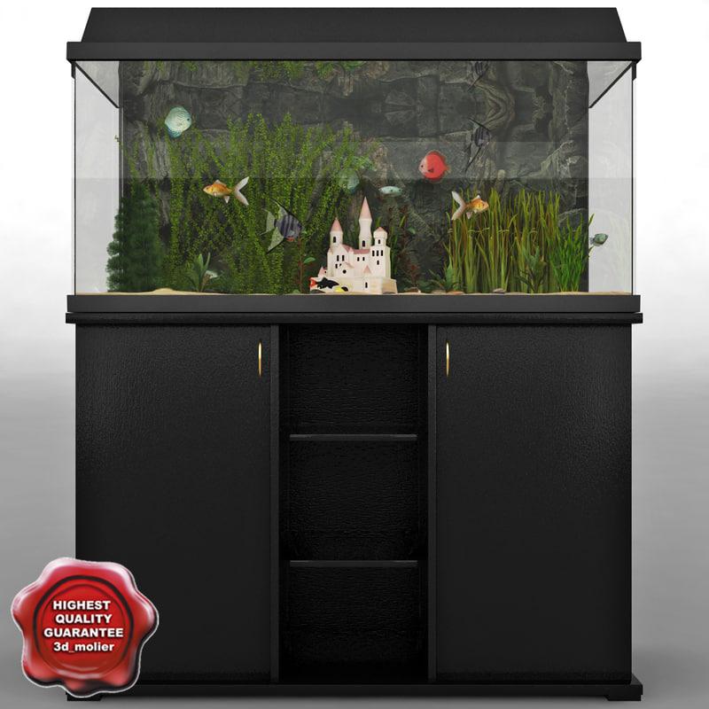 3d model aquarium v7
