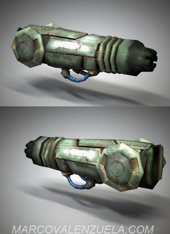 weapon arm cannon gun 3d model