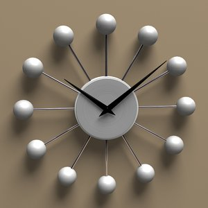 ball wall clock 3d model