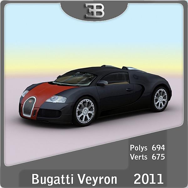 3d 2011 bugatti veyron hermes model