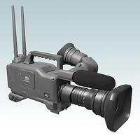 hd video camera 3d model