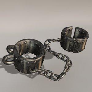 3d jail shackles model