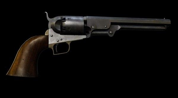 3ds max colt 1851 navy revolver
