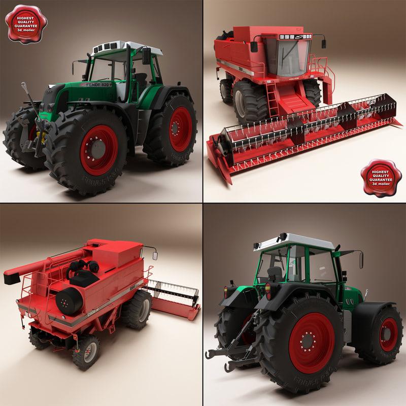 3d combine tractor