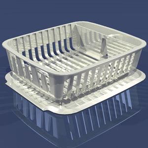 3d dish drainer energy model