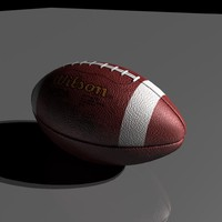wilson football 3d model