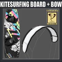 kitesurfing board bow 3d max