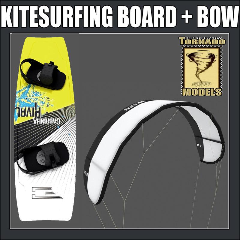 kitesurfing board bow 3d model