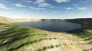 lake terrain landscape 3d model
