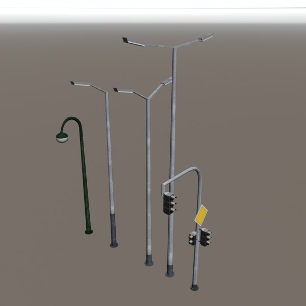 3ds max street lamps traffic lights