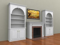 Fireplace & Bookcase