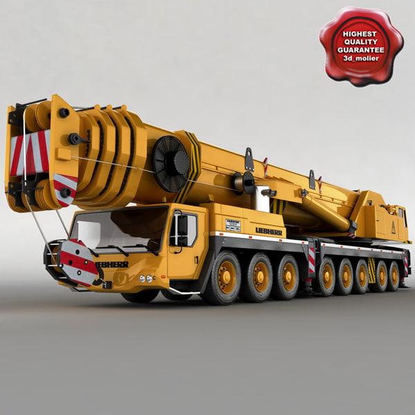3d c4d liebherr ltm 1500 mobile crane