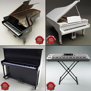 music instruments v3 grand piano 3d model