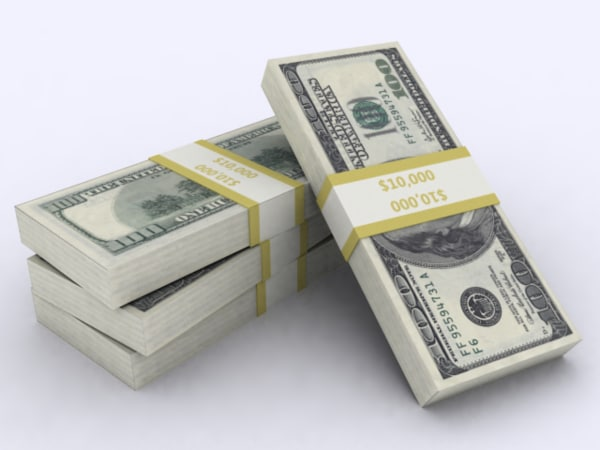 dollar stack 3d model