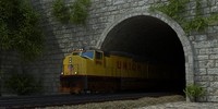 union pacific train 3d max