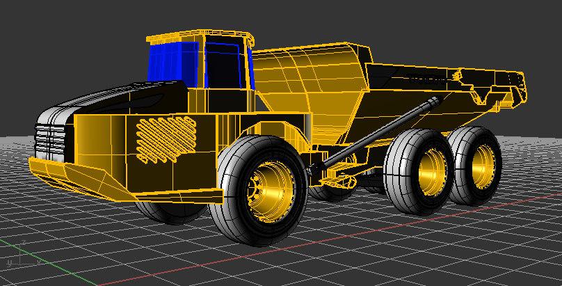 articulated hauler 3d model