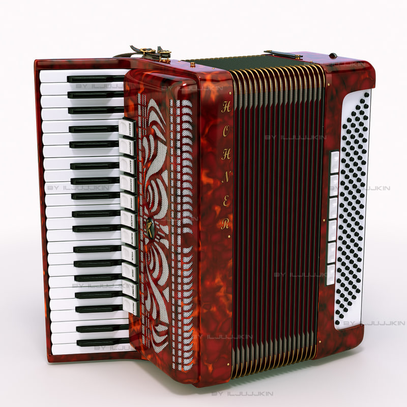 accordion hohner 3d model