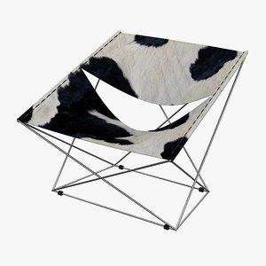 3ds armchair artifort butterfly