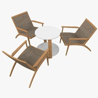 armchair conference table 3d model