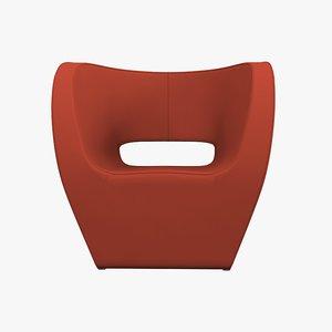 moroso armchair victoria albert 3d model