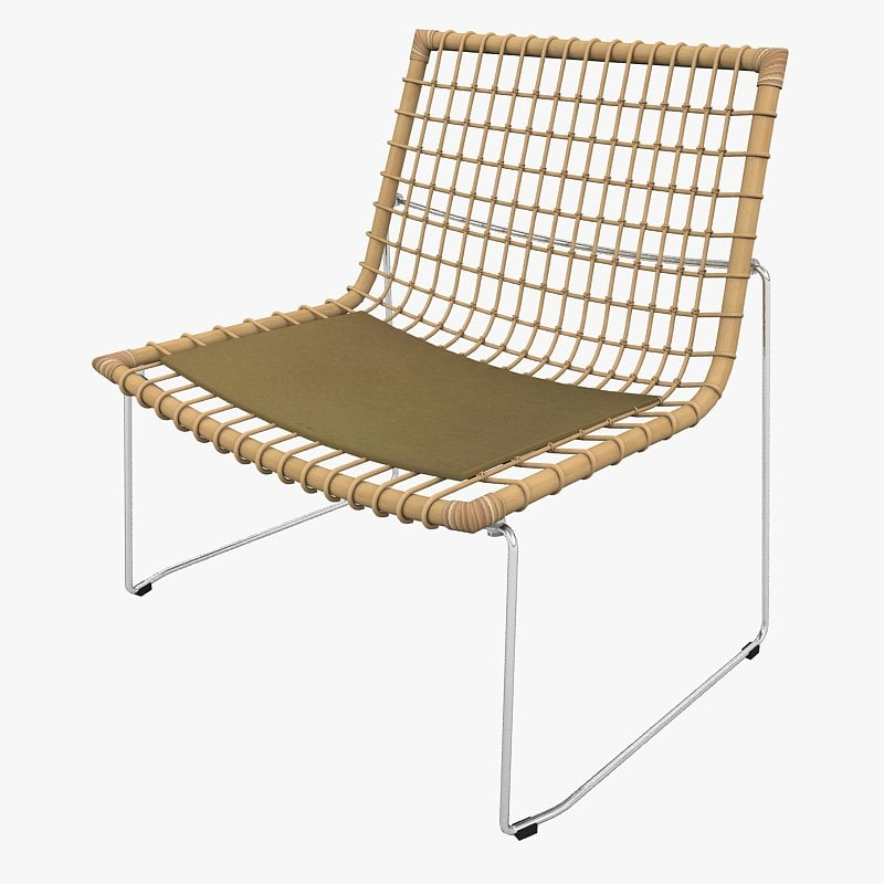 3ds max armchair bamboo