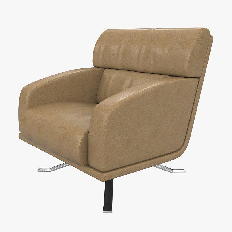 rolf benz armchair 5900 3d model
