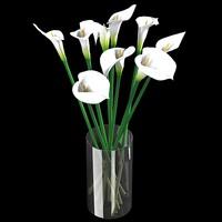 white calla lilies flower bouquet vase 30