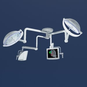 modern surgical light monitors 3ds