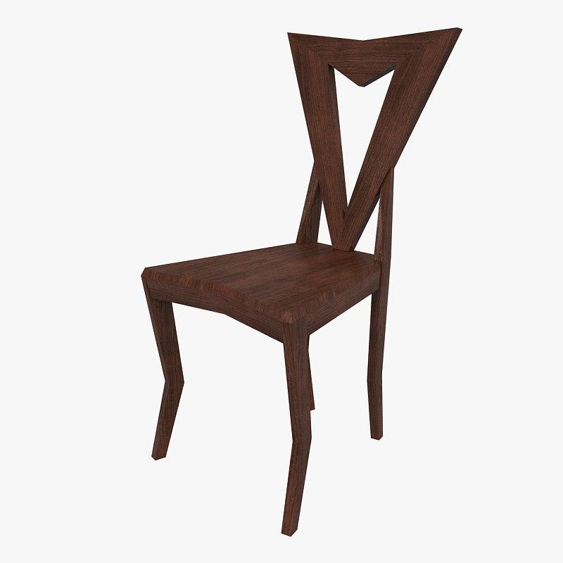 3d model pavel janak chair