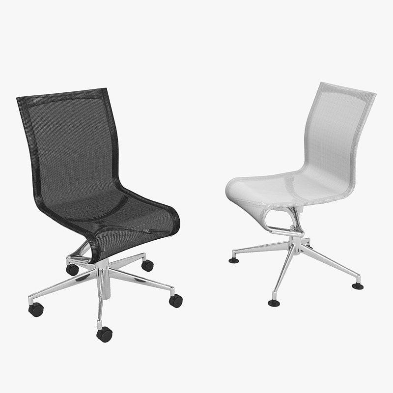 chair rollingframe alberto 3d model