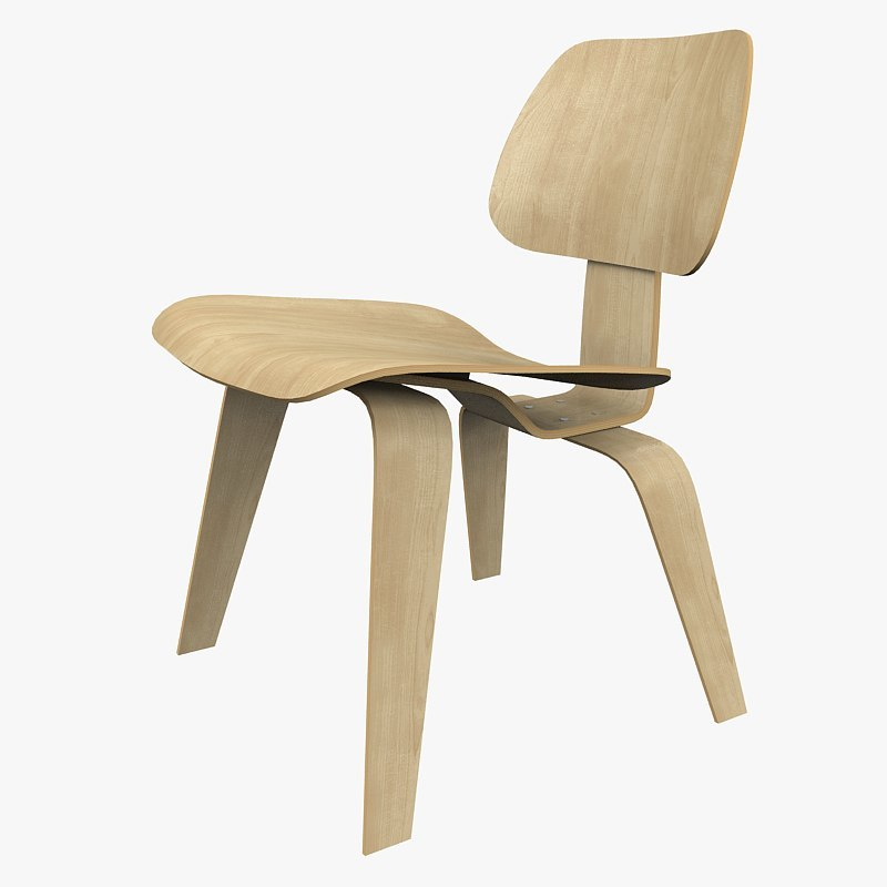 vitra plywood chair 3d max