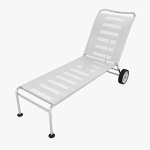 3d model chaise - outdoor