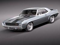 3d max chevrolet camaro z28 1969