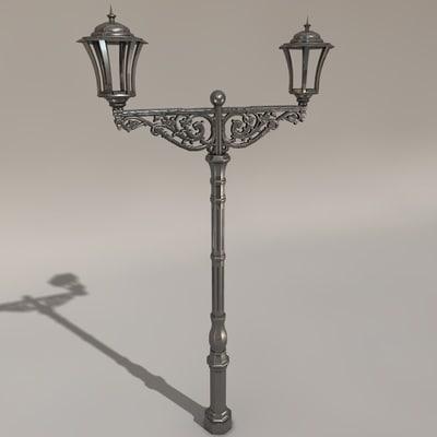 victorian street lamp c4d