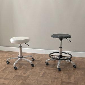 3d designer drafting stools chair