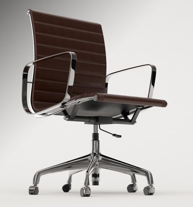 eames office chair 3d model