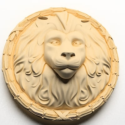 3d lion head face