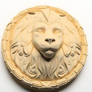 3d lion head face