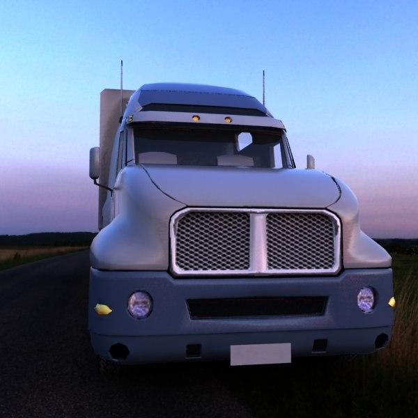 3ds max semi truck -