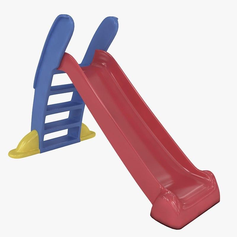 3d kids slide