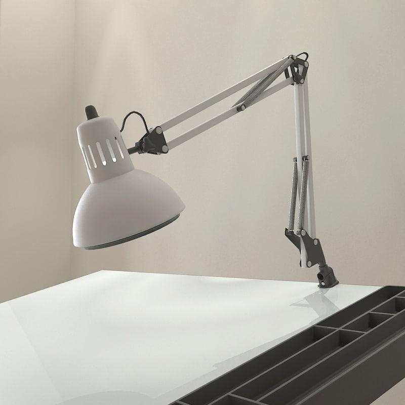 3d model drafting swing arm lamp