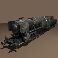 3d max kriegslokomotive baureihe 52 lods