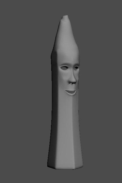 3d character mr pencil