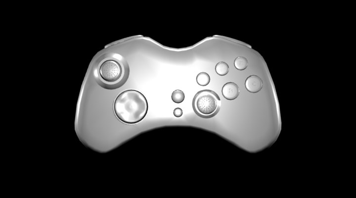 basic arcade controller 3d model